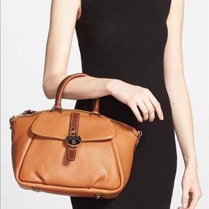 Dooney & Bourke 'Samba' Tan Lock Leather Satchel
